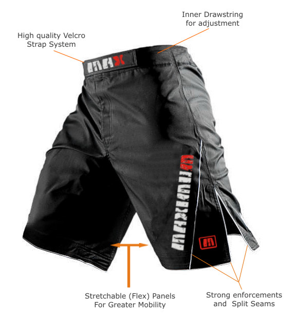 MMA Fight Shorts Grappling Short Kick Boxing Cage Fighting Shorts ...