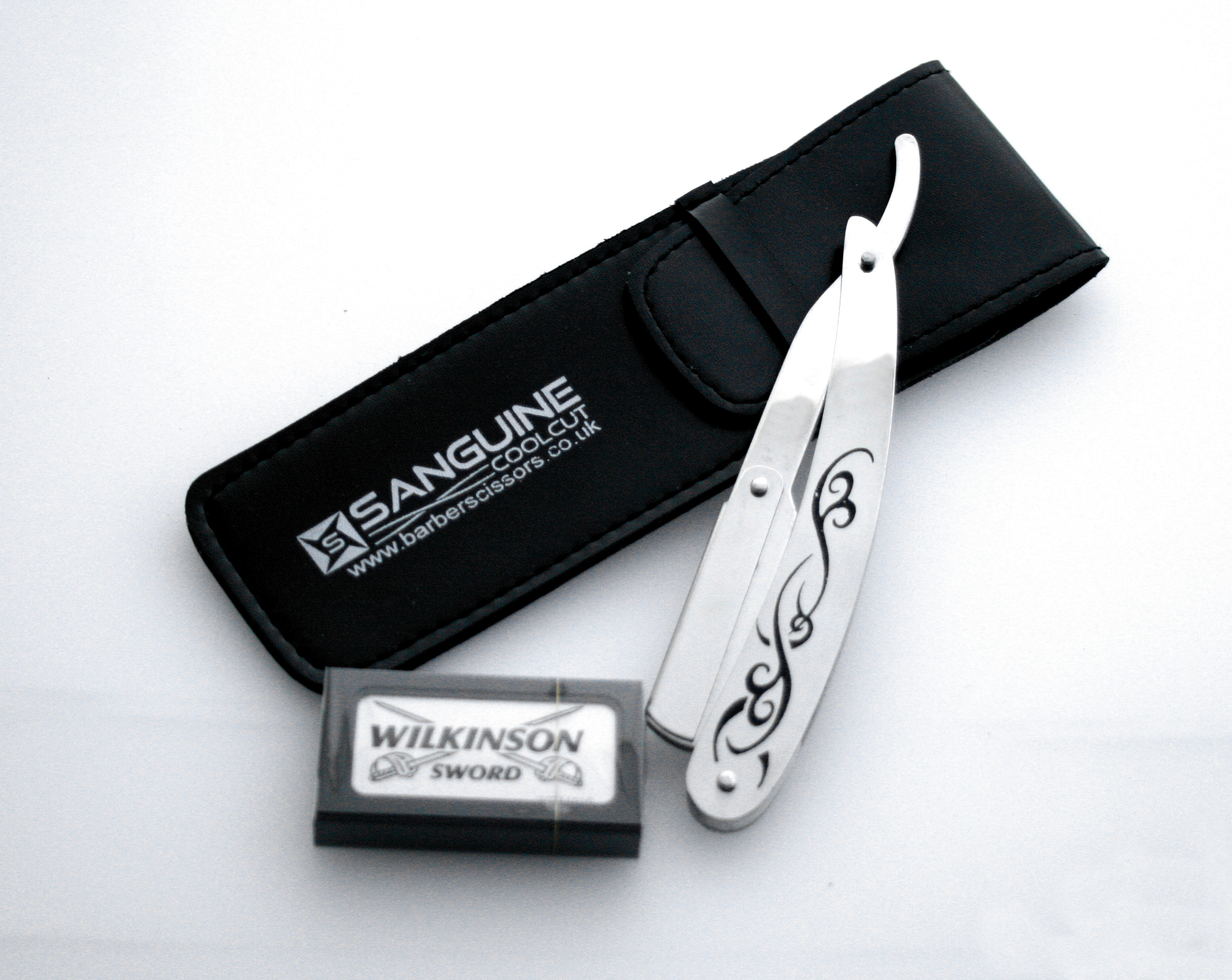 Brand-New-Shaving-Razor-Cut-Throat-Razors-Shavette-Blades-Pouch