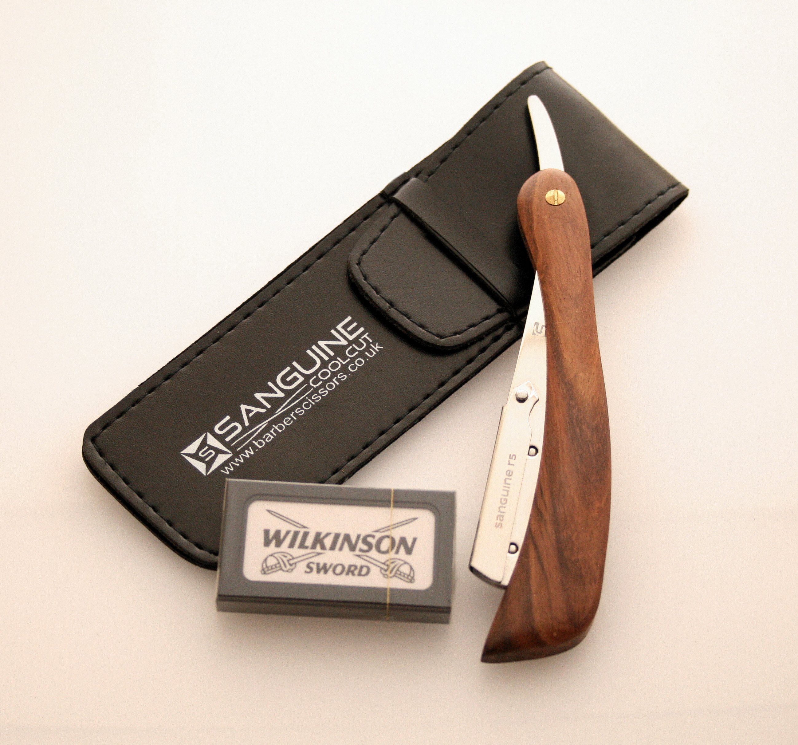 Brand-New-Shaving-Razor-Cut-Throat-Razors-Shavette-Blades-amp-Pouch
