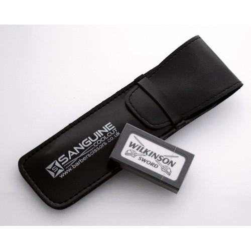 Razors Pouch Shaving Razor Carrying Case Straight Razors Presentation Case Black
