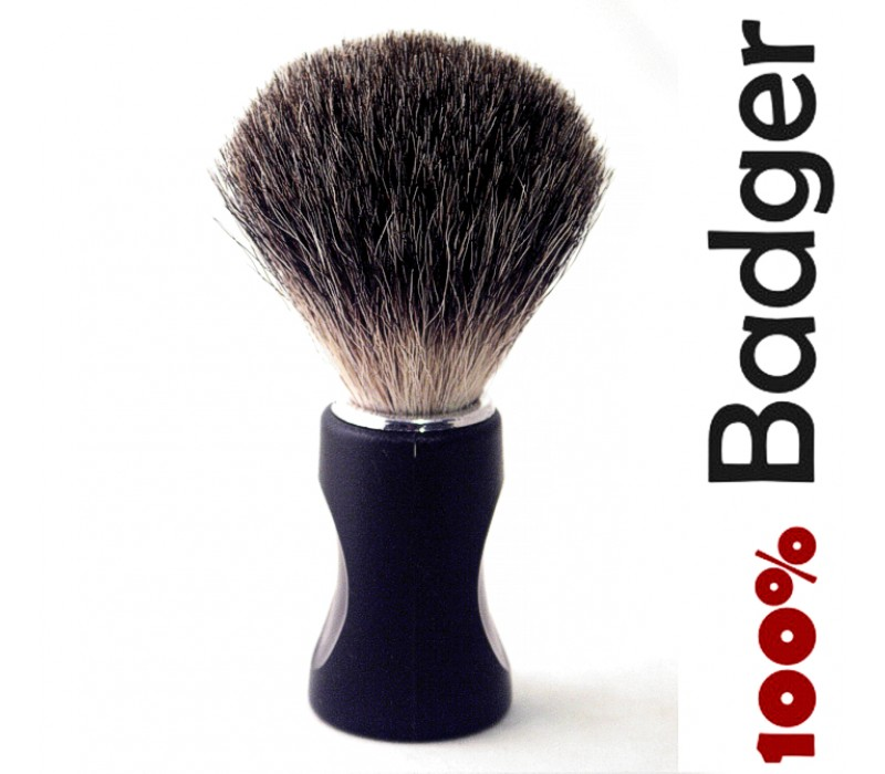 New Shaving Brush Soft 100% Pure Badger Hair Shaving Brush Standard Size Black