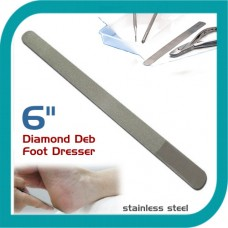 "Classic Foot Dresser Metal Nail File Dimond Deb Nail File Silver 6"""