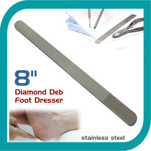 Professional Skin Dresser Foot Dresser Nail File Stainless Steel Chrome 8""