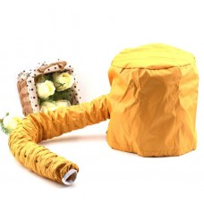 High Quality Portable Hair Dryer Soft Hood Bonnet Attachment Yellow
