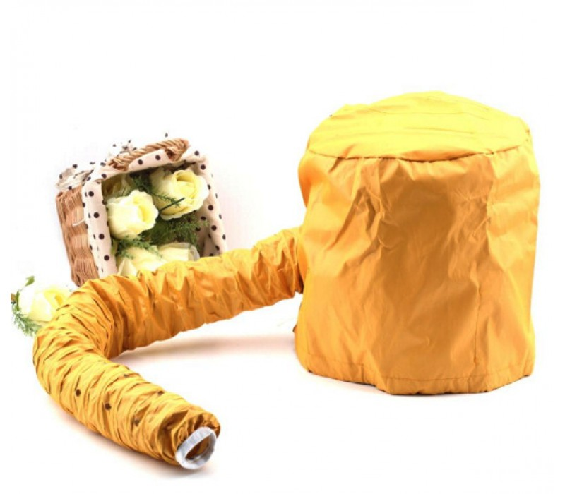 High Quality Portable Hair Dryer Soft Hood Bonnet Attachment Yellow