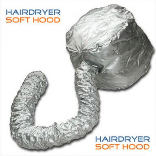 Professional Portable Hair Dryer Soft Hood Bonnet Attachment Silver