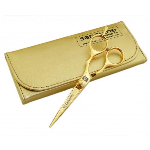"""Sharp Blades Hairdressing Scissors Titanium Gold Finish 5.5"""""""