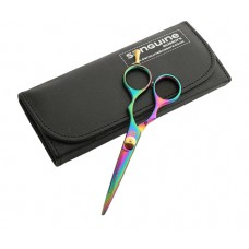 "Moustache Hairdressing Scissors Sharp Titanium Scissors Multicolour 5""  - Case is not included"