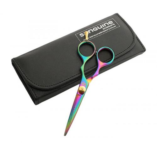 "Moustache Hairdressing Scissors Sharp Titanium Scissors Multicolour 5""  - Case is not included"