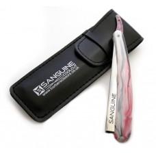 Professional Barber Razors Salon Shaving Razors Pinkish Black with Black Case