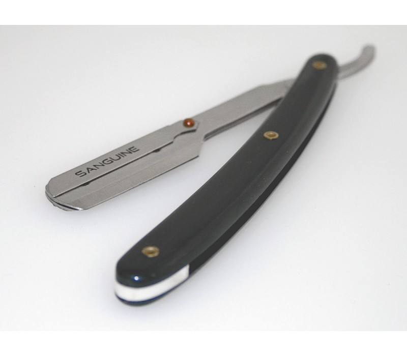 Affordable Straight Cut Throat Shaving Razors Black with Presentation Case