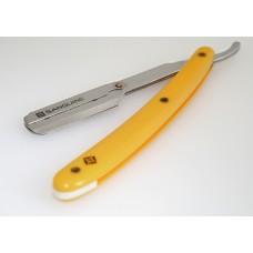 Straight Cut Barber Shaving Razors Budget Shaving Razors Yellow with Black Case