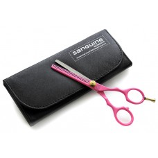 "Professional Hair Thinning Scissors Salon Scissors Pink 5.5"" with Black Case"