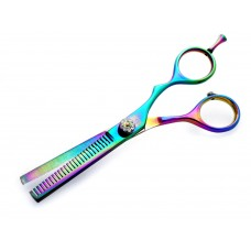 Barber Or Hairdressing Hair Thinning Scissors Offset Crane Style Multicolour 5.5""