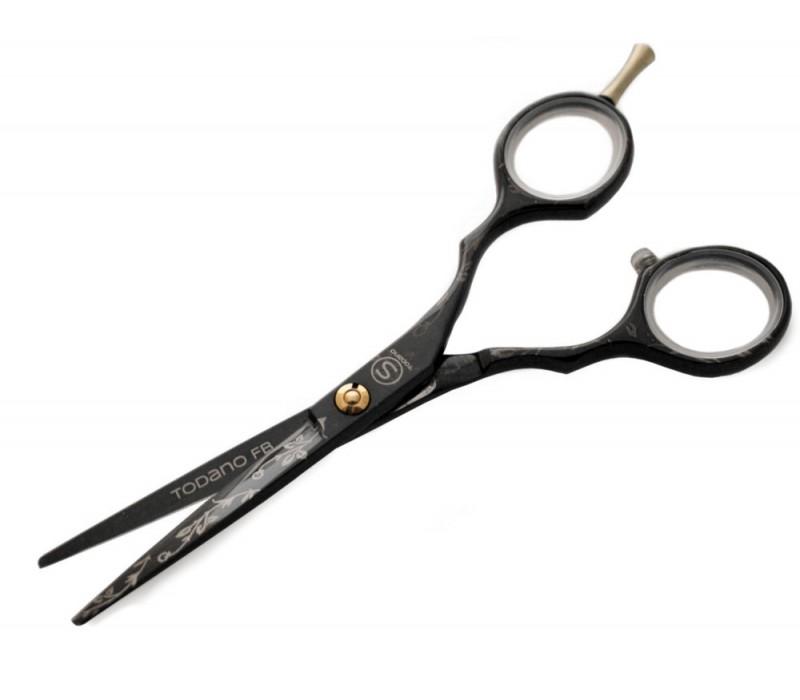 Todano FB Black 5.5 in (14 cm) Hair Scissors with Case