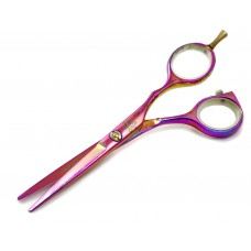 Todano Pink Floral Offset 5.5 inches (14 cm) Premium Hair Cutting Scissors