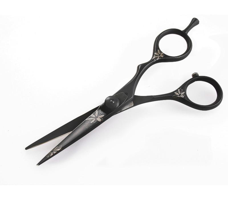 Extremely Sharp Hair Scissors Barber Hair Scissors Offset Black 5.5 in Case