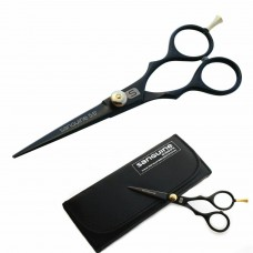 "Mustache Trimming Scissors Hair Trimming Scissors Black 4.5"" with Black Case"