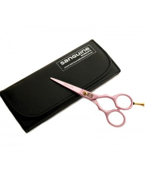 Pink Hairdressing Scissors, Hair Scissors in Presentation Case