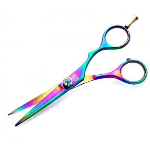 "Offset Scissors Haircutting Scissors Professional Scissors 5.5"" with Black Case"