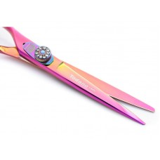 Professional Left Handed Hair Cutting Scissors, Titanium + Case