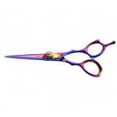 "Hair Cutting Scissors Titanium Hair Scissor Multicolor 5.5"" in Presentation Case"