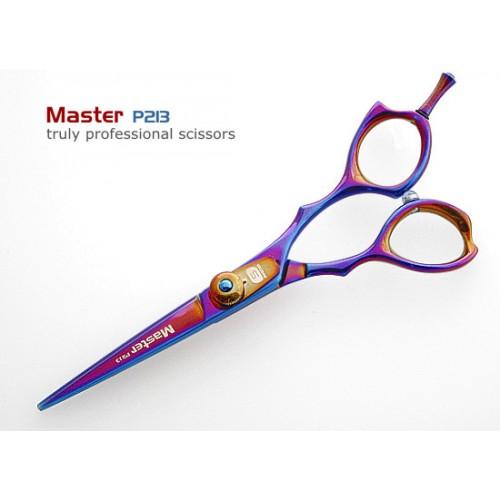 """Hair Cutting Scissors Titanium Hair Scissor Multicolor 5.5"""" in Presentation Case"""
